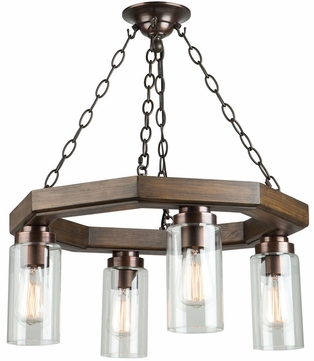 Artcraft AC10574BU Jasper Park Contemporary Brunito Bronze Mini Chandelier Light