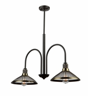 Artcraft AC10622 Wellington Vintage Brass Mini Chandelier Light