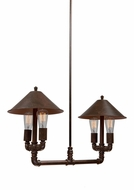 Artcraft AC10644RU Revival Vintage Brown & Rust Mini Lighting Chandelier