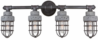 Artcraft AC10674 Loft Retro Slate and Grey 4-Light Lighting For Bathroom