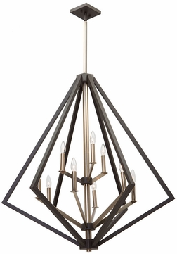 Artcraft AC10689BZ Breezy Point Modern Bronze Chandelier Lighting