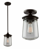 Artcraft AC10700OB Nostalgia Oil Rubbed Bronze Mini Hanging Light / Ceiling Lamp