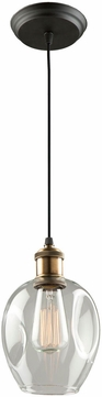 Artcraft AC10730VB Clearwater Contemporary Vintage Brass Mini Pendant Light