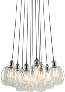 Artcraft AC10731PN Clearwater Modern Polish Nickel & Black Multi Lighting Pendant