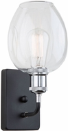 Artcraft AC10738PN Clearwater Modern Polish Nickel & Black Wall Lighting