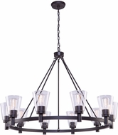 Artcraft AC10760OB Clarence Oil Rubbed Bronze 42 Hanging Chandelier