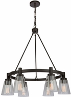 Artcraft AC10765OB Clarence Oil Rubbed Bronze 28  Hanging Chandelier
