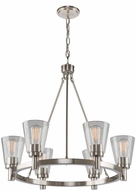 Artcraft AC10766BN Clarence Brushed Nickel 28  Chandelier Light
