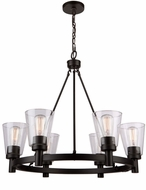 Artcraft AC10766OB Clarence Oil Rubbed Bronze 28  Chandelier Lighting