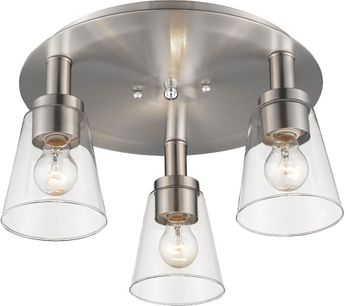Artcraft AC10768BN Clarence Brushed Nickel Home Ceiling Lighting