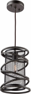 Artcraft AC10820JV Rebar Studio Dark Java Brown Foyer Lighting