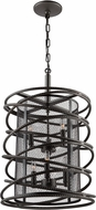 Artcraft AC10823JV Rebar Studio Dark Java Brown Foyer Light Fixture