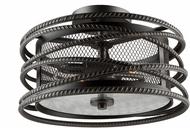 Artcraft AC10824JV Rebar Studio Dark Java Brown Flush Mount Ceiling Light Fixture