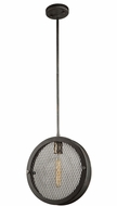 Artcraft AC10830GB Riverside Contemporary Granite Black Mini Pendant Hanging Light