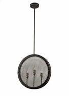Artcraft AC10831GB Riverside Modern Granite Black Hanging Light Fixture