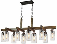 Artcraft AC10860DP Home Glow Distressed Pine Kitchen Island Light Fixture