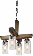 Artcraft AC10864DP Home Glow Distressed Pine Mini Chandelier Lighting