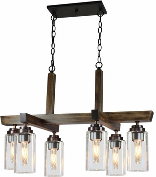 Artcraft AC10866DP Home Glow Distressed Pine Kitchen Island Lighting