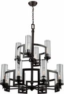 Artcraft AC10872JV Palazzo Vecchio Dark Java Brown Lighting Chandelier
