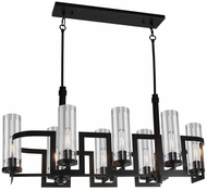 Artcraft AC10878JV Palazzo Vecchio Dark Java Brown Kitchen Island Light