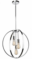 Artcraft AC10883CH Newport Modern Chrome Hanging Pendant Lighting