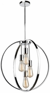 Artcraft AC10884CH Newport Modern Chrome Pendant Hanging Light