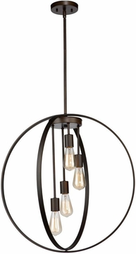 Artcraft AC10884OB Newport Contemporary Oil Rubbed Bronze Hanging Light Fixture