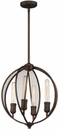 Artcraft AC10904OB Linden Contemporary Bronze Drop Ceiling Lighting