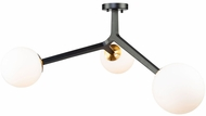 Artcraft AC10973VB Ravello Contemporary Black and Harvest Brass Ceiling Lighting