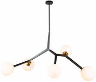 Artcraft AC10975VB Ravello Contemporary Black and Harvest Brass 28  Pendant Hanging Light