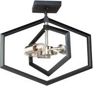 Artcraft AC10993NB Preston Contemporary Semi Matte Black and Brushed Nickel Ceiling Light