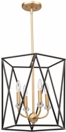 Artcraft AC11030 Harmony Modern Black & Satin Brass Medium Entryway Light Fixture