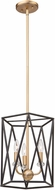 Artcraft AC11031 Harmony Contemporary Black & Satin Brass Small Foyer Lighting