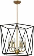 Artcraft AC11033 Harmony Contemporary Black & Satin Brass Large Foyer Light Fixture