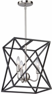 Artcraft AC11041 Elements Contemporary Black & Polished Nickel Small Foyer Lighting Fixture