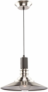Artcraft AC11041BN Ambrose Modern Dark Wood & Brushed Nickel Hanging Pendant Lighting