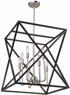 Artcraft AC11042 Elements Modern Black & Polished Nickel Large Entryway Light Fixture
