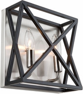 Artcraft AC11043 Elements Contemporary Black & Polished Nickel Wall Sconce