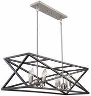 Artcraft AC11045 Elements Contemporary Black & Polished Nickel Kitchen Island Light