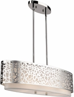 Artcraft AC11064CH Bayview Contemporary Chrome & White Kitchen Island Light Fixture