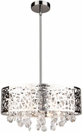 Artcraft AC11072CH Celestial Chrome Halogen Drum Drop Ceiling Lighting