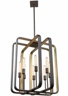 Artcraft AC11083 Marlborough Contemporary Oil Rubbed Bronze & Gold Leaf 24  Pendant Light