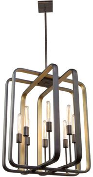 Artcraft AC11083 Marlborough Contemporary Oil Rubbed Bronze and Gold Leaf 25  Foyer Light Fixture