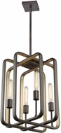 Artcraft AC11085 Marlborough Contemporary Oil Rubbed Bronze & Gold Leaf Lighting Pendant