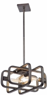 Artcraft AC11085 Marlborough Contemporary Oil Rubbed Bronze and Gold Leaf Mini Lighting Pendant