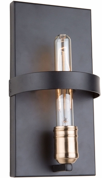 Artcraft AC11091 Willow Modern Dark Bronze & Vintage Brass Wall Lighting
