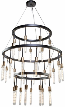 Artcraft AC11093 Willow Modern Dark Bronze & Vintage Brass Chandelier Light