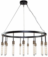 Artcraft AC11095 Willow Contemporary Dark Bronze & Vintage Brass Ceiling Chandelier