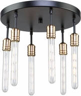 Artcraft AC11096 Willow Modern Dark Bronze & Vintage Brass Ceiling Light Fixture