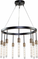 Artcraft AC11099 Willow Modern Dark Bronze & Vintage Brass Chandelier Light